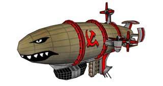 Kirov Airship Papercraft