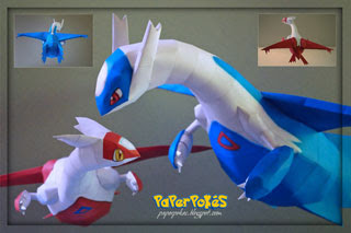 Pokemon Latios & Latias Papercraft