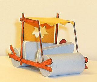 Fred Flintstone Car Papercraft