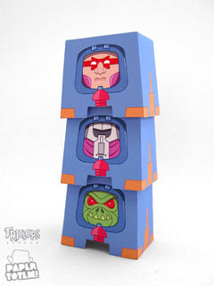Man-3-Faces Paper Toy