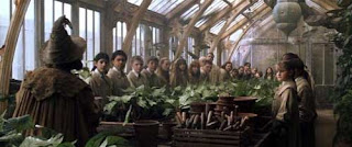 Professor Sprout at Hogwarts Greenhouse