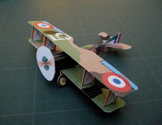 SPAD XIII Biplane Papercraft