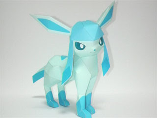 Pokemon Glaceon Papercraft
