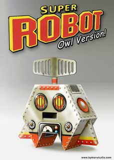Super Robot Owl Papercraft Toy