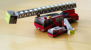 Fire Engine Papercraft