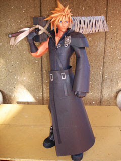 Kingdom Hearts 2 Cloud Strife Papercraft