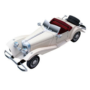 Mercedes Benz 500K Papercraft