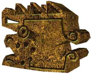 Peru Gold Statue Papercraft