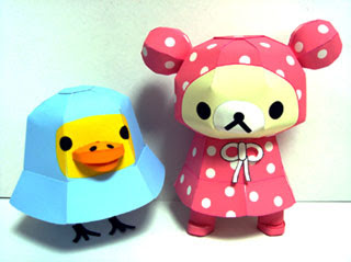 Relax Bear Raincoat Papercraft
