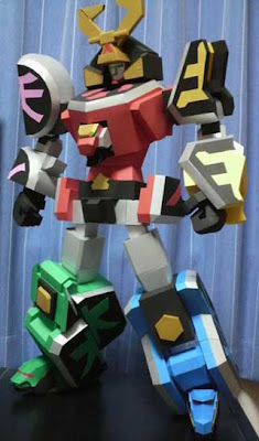 Shinkenoh Mecha Papercraft