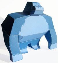 Blue Gorilla Papercraft