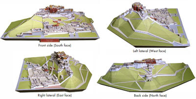 Potala Palace Papercraft