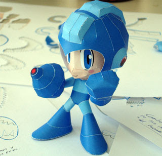 MegaMan Papercraft Powered Up