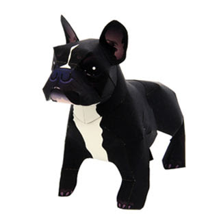 French Bulldog Papercraft