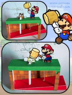 Super Mario Papercraft Automata
