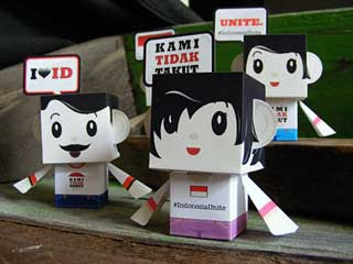 Indonesia Unite Papercraft Toys