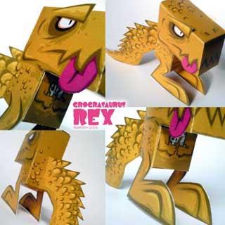 Grograsaurus Rex Paper Toy