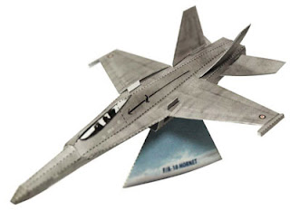F18 Hornet Jet Papercraft
