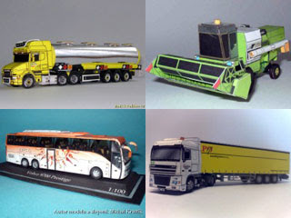 ZMK Transport & Combine Harvester Papercrafts