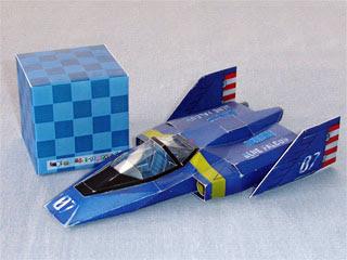 F-Zero Blue Falcon GX Papercraft