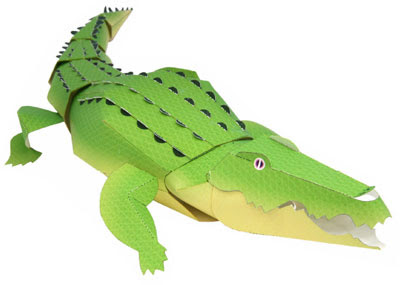 Crocodile Papercraft