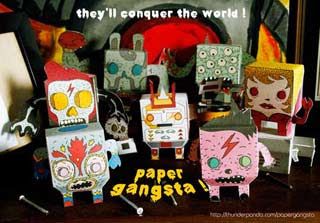 Paper Gangsta Paper Toys