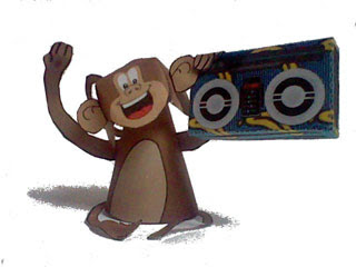 Funky Monkey Paper Toy