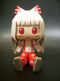 Fujiwara no Mokou Papercraft