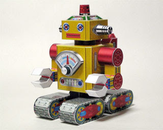 Tin Toy Robot Papercraft