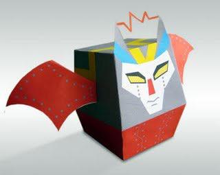 Batbot Paper Toy