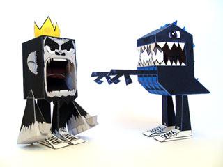 King Kong Godzilla Papercraft
