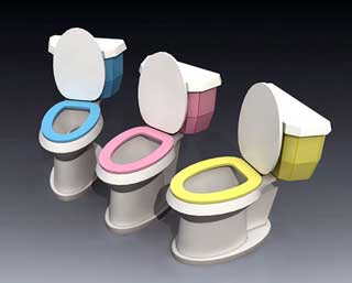 Flush Toilet Papercraft