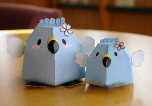 Blue Birds Papercraft