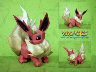 Flareon Papercraft