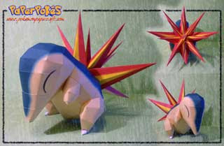 Pokemon Cyndaquil Papercraft