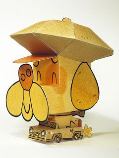 Bark Dog Honk Car Papercraft