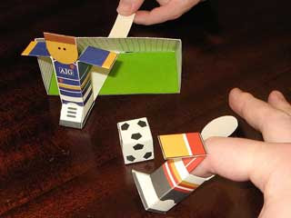 Finger Football Game Papercraft