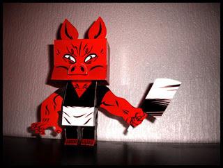 Mister Pig 3D Papercraft