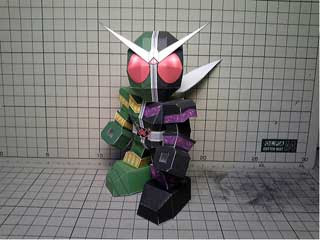 Kamen Rider Double Cyclone Joker Papercraft