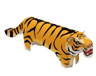 Low-slung Tiger Papercraft