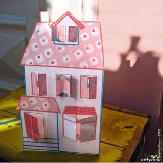 Lovely Christmas House Papercraft ~ Paperkraft.net - Free Papercraft ...