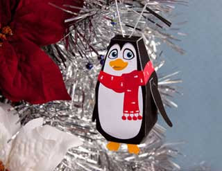 Christmas Penguin Ornament Papercraft