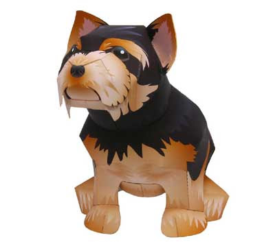 Yorkshire Terrier Papercraft