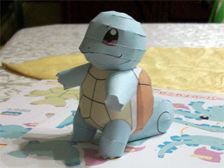 Pokemon Squirtle Papercraft