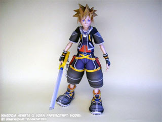 Kingdom Hearts 2 Sora Papercraft