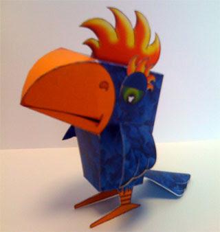 Pioupiou Paper Toy