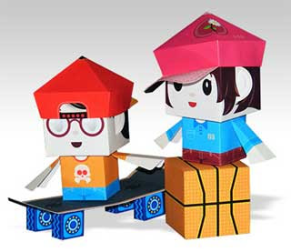 Skate Ball Paper Toy