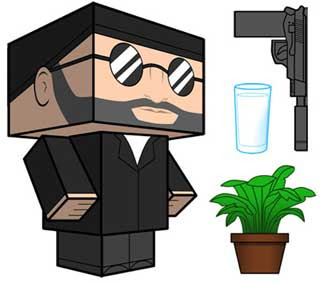 Leon the Professional Papercraft