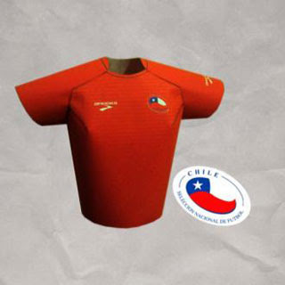 2010 World Cup Futbol Jersey Papercraft Chile