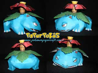 Pokemon Venusaur Papercraft